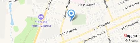 Ермолино на карте Аксая