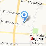 Молочный дворик на карте Ярославля