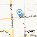 Олеандр на карте Ярославля