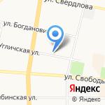 Лель на карте Ярославля