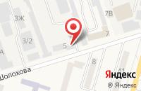 Схема проезда до компании Ростовстройдор в Аксае