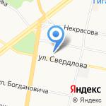 Вэритас на карте Ярославля