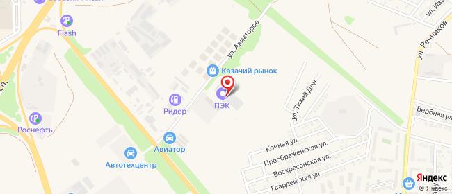 Карта расположения пункта доставки Аксай в городе Аксай