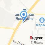 Элегант на карте Ярославля