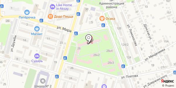 Банкомат Юго-Западный банк Сбербанка России. Схема проезда в Аксае