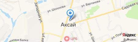 Рис на карте Аксая