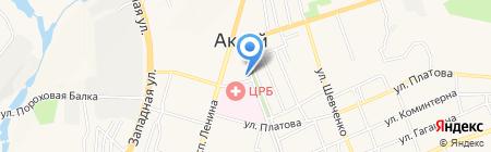 Осака на карте Аксая