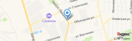 АЗС Прогресс на карте Аксая