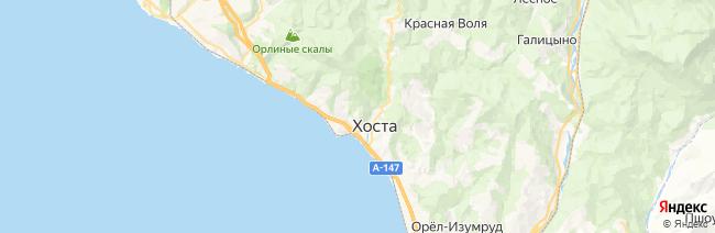 Хоста на карте