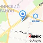 Сияние на карте Ярославля