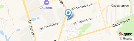 Терминал Банк Петрокоммерц на карте Аксая