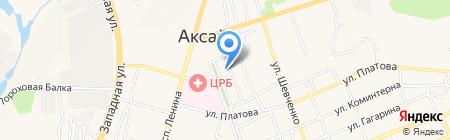 Сокол на карте Аксая