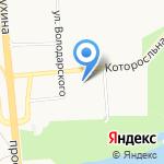 Белый Лев на карте Ярославля