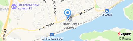 Почтовая станция на карте Аксая