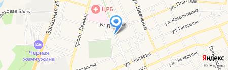 Ирис на карте Аксая