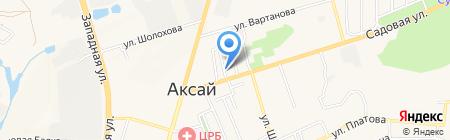 Ридер на карте Аксая