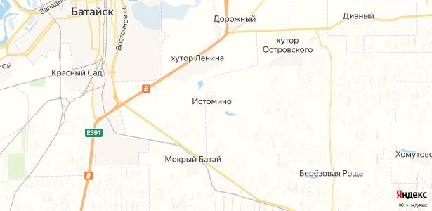 Истомино на карте