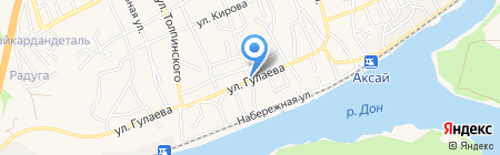 Аксайская вечерняя (сменная) общеобразовательная школа на карте Аксая