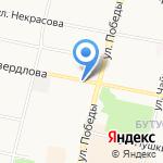 Магазин автозапчастей для Ford на карте Ярославля