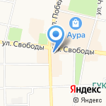 Чук и Гвоздь на карте Ярославля