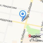 Русалка на карте Ярославля