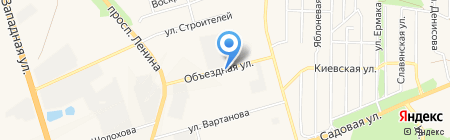 Компания по аренде автокранов на карте Аксая