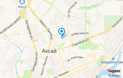 Местоположение на карте пункта техосмотра по адресу Ростовская обл, г Аксай, ул Вартанова, д 13А