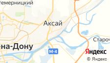 Гостиницы города Аксай на карте