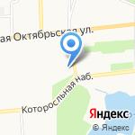 Церковь Тихвинской Богоматери на карте Ярославля