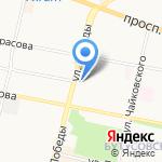 Калина на карте Ярославля