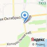 Храм Николы Мокрого на карте Ярославля