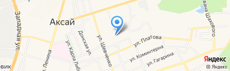 Бюро технической инвентаризации на карте Аксая