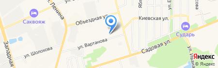 Каравелла на карте Аксая