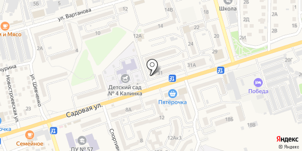 КБ Центр-инвест, ПАО. Схема проезда в Аксае