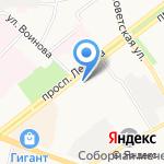 Защитник на карте Ярославля