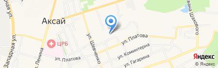 Олос на карте Аксая