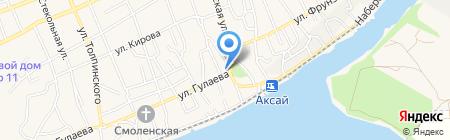 Средняя общеобразовательная школа №1 на карте Аксая
