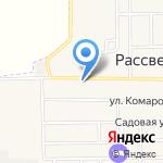 Рассветовский магазин №54 на карте Рассвета