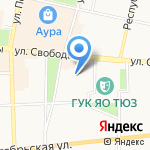 Колокольчик на карте Ярославля