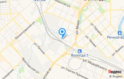 Местоположение на карте пункта техосмотра по адресу г Вологда, ул Путейская, д 13