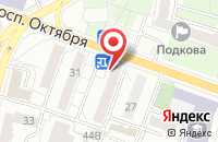 Схема проезда до компании Профи в Ярославле