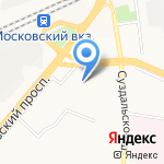 Фрунзенский районный суд на карте Ярославля