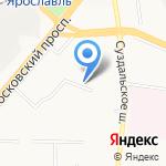 Яркуб на карте Ярославля