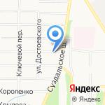 Два Крыла на карте Ярославля