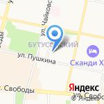 Каранdаш на карте Ярославля