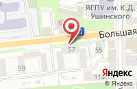 Схема проезда до компании Ярбилет в Ярославле