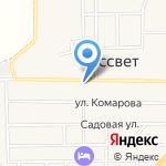Продуктовый магазин на карте Рассвета