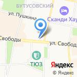 Такеши на карте Ярославля