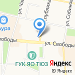 Luxuria на карте Ярославля