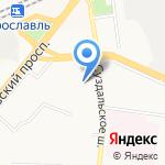 Агат 2002 на карте Ярославля